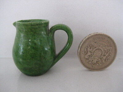 Antique Rye Pottery Tiny Miniature Ewer Jug Pitcher Fully Marked Doll House Size