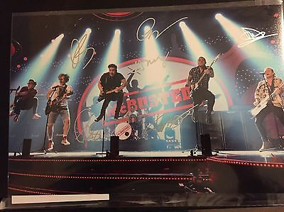 New Listing. McBusted Hand Signed  12x8 Photo - COA