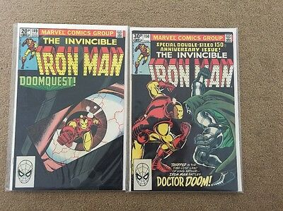 Iron Man #149 + #150 Doomquest Classic Storyline Excellent Condition