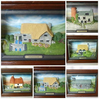 5 Tom Thumb Limited Edition MIniature Cottage  Wall Plaque Picture Model Framed