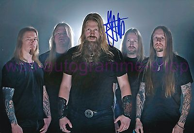 AMON AMARTH - JOHAN HEGG - SIGNED IN PERSON AUTOGRAMM AUTOGRAPH 20x29 CM  SELTEN