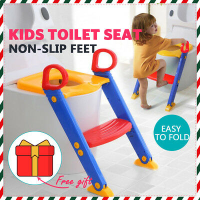 kids toilet seats Ladder Baby Toddler Training Toilet Step Potty Seat Non Slip
