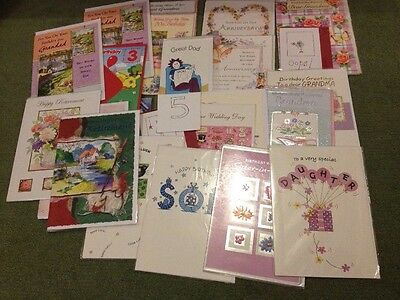 Mixed Lot Of 30 Greetings Cards +5 Free