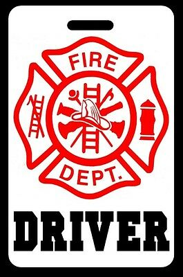 DRIVER Firefighter Luggage/Gear Bag Tag - FREE Personalization