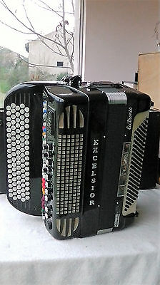 Accordéon Excelsior Mod.2000C de collection + Excelsior Aut. Walking Bass / Rhyt