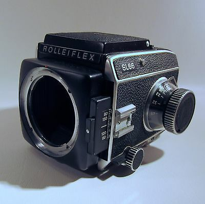 Rolleiflex Sl66 Camera For Parts Or Repair With Working Back