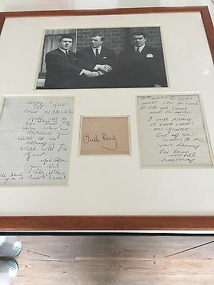 Ron Kray and Reg Kray Original Letters Framed picture with Charlie Kray