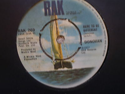 """Donovan – Dare To Be Different-Uk 7"""" Single-1977-Nm"""