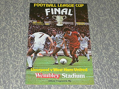 1981 League Cup Final - LIVERPOOL v. WEST HAM UNITED