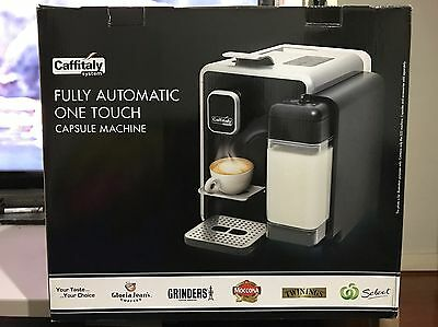 Caffitaly S22 SILVER Fully Automatic One Touch Capsule Machine. Brand New