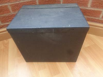 Vintage Hinged Metal Deed / Storage Box