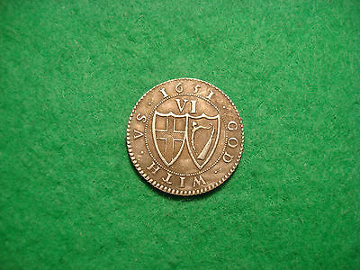 Extremely Rare 1651 commonwealth Sixpence PATTERN  PLEASE READ DESCRIPTION!!!