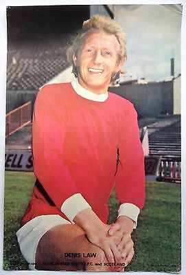 Manchester United 1970's Coffer Poster Denis Law