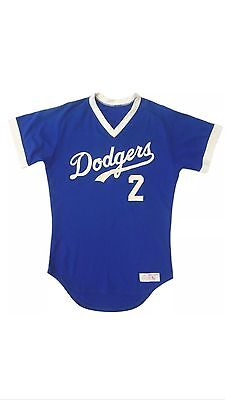Tommy Lasorda Game Worn Used 1980's LA Dodgers #2 Blue Large Baseball Jersey LOA