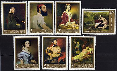 Hungary #1820-1826 Mnh Paintings By Hungarian Artists