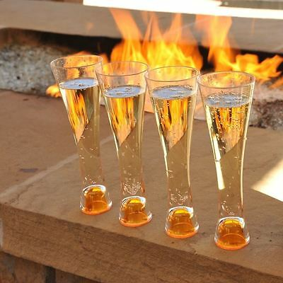 Veuve Clicquot Ponsardin Champagne Trendy Glass X 4 Unboxed Acrylic Not Glass!!!