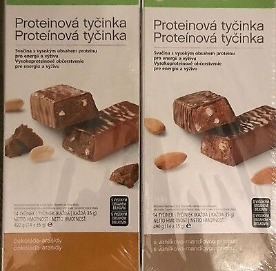 Herbalife Protein Bars -  3  Great Flavours -14 bars per box 490g - each bar 35g