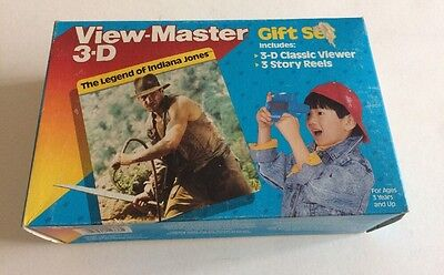View-master 3D Gift Set Legend Of Indiana Jones Factory Sealed 1989 Rare