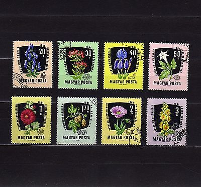 Hungary #1418-1425 Used Complet Set Of Flowers