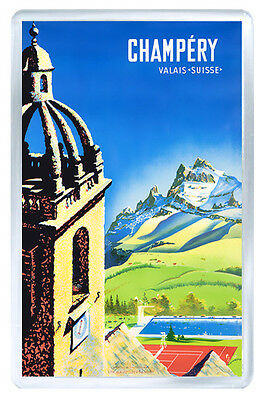 Champery Switzerland Mod2 Vintage Repro Fridge Magnet Souvenir Iman Nevera