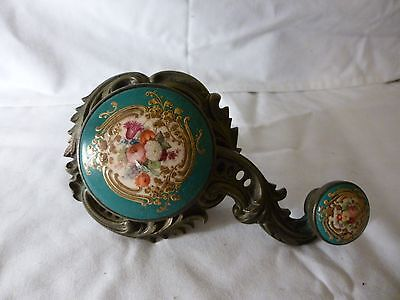 Victorian servants bell pull enamel and brass authentic