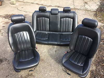 Jaguar X type Saloon Black FULL Leather complete interior seats and door cards