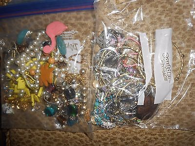 Lot of Vintage, Mod, Bling!!-bracelets, earrings, pins, watches, necklaces! 2 lb