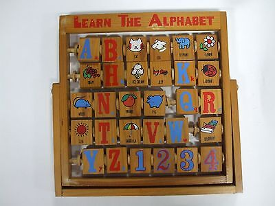 Learn the Alphabet wooden educational toy