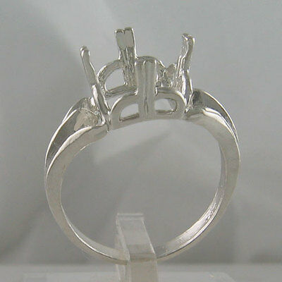 Prenotched 10Mm Antique Cushion/square Solitaire Ring In Silver Size 8 Cr65Ss