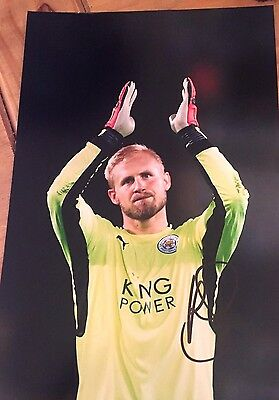 Kasper Schmeichel Leicester FC signed football photo