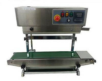 High Quality Vertical Continuous Band Sealer / Plastic Bag Sealing Machine