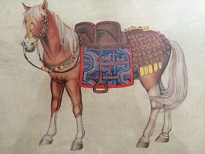 Chinese asian oriental print vintage / antique? Horse