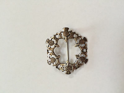 Malcolm Gray ORTAK Silver 925 Thistle Brooch with locking clasp