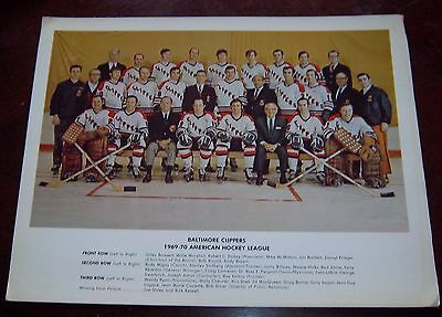 Baltimore Clippers Hockey Team Photo 1969-1970  from the Woody Ryan Collection