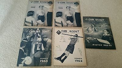 CUB SCOUT PROGRAM QUARTERLY MAGAZINE lot of 5. Spring, winter summer 1962 1963!