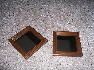 2 Vintage HOMCO Home Interiors Wood Framed Accent Mirrors