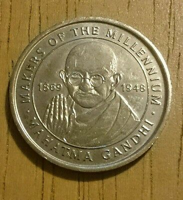 Mahatma Gandhi Makers of the Millennium Coin, Collectable