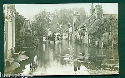 BRAMBER FLOOD  WITH PEOPLE,NO 13 BY CHAPMAN, vintage postcard