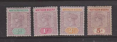 Northern Nigeria 1900 Values Mounted Mint