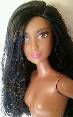 2016 Barbie Evolution Fashionistas AA Doll B-FABULOUS Black Hair Nude NEW!