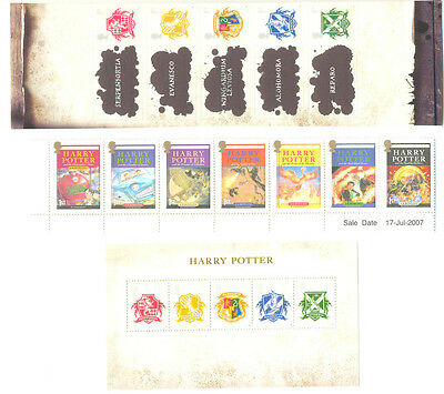 Great Britain-Harry Potter collection mnh set,self-adhesives & min sheet