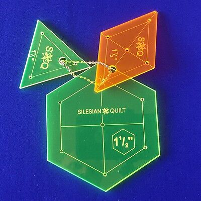 Template for Patchwork: Set Hexagon, Diamond, Triangle 1 1/2 inches