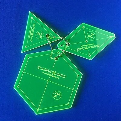 Template for Patchwork: Set Hexagon, Diamond, Triangle 2 inches
