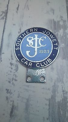 Southern Jowett Car Club Metal & Enamel Car Grille Badge (Rare And Collectable)
