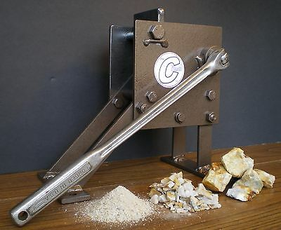 "ROCK CRUSHER Hand operated Jaw type. Geological assay frit pick ""The Crunch"""