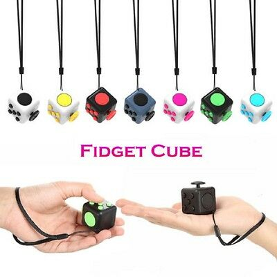 Upgraded Mini Magic Fidget Cube Anti-anxiety Adults Stress Relief Kids Toy Gift