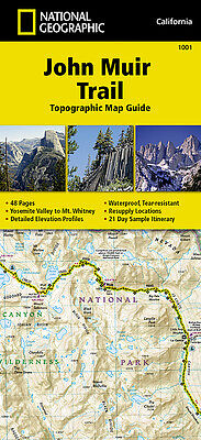 John Muir Trail Topographic Trail Map Guide National Geographic Waterproof