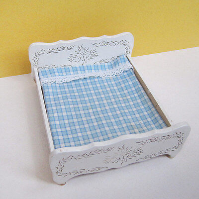 Vintage Lisa of Denmark Double Bed (Lundby scale)