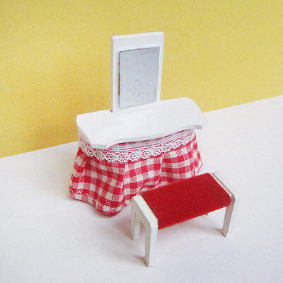 Vintage Lisa of Denmark Dressing Table and Stool * RARE * (Lundby scale)