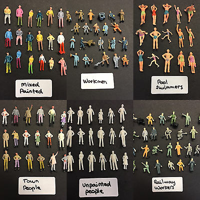 Model People - Various Scales -Figures Plastic Railway Pedestrian painted person
